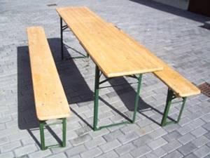 Tische und Stühle mieten Bierzeltgarnitur 220x50cm mieten