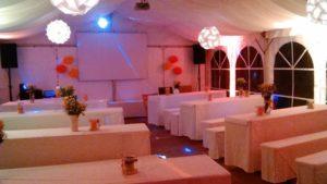 Zeltverleih Hochzeitszelt Festzelt 6x9m mieten
