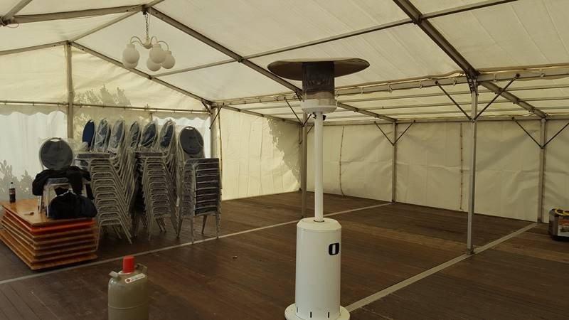 Zeltverleih Festzelt 9x9m für eine Geburtstagsfeier in Lengede