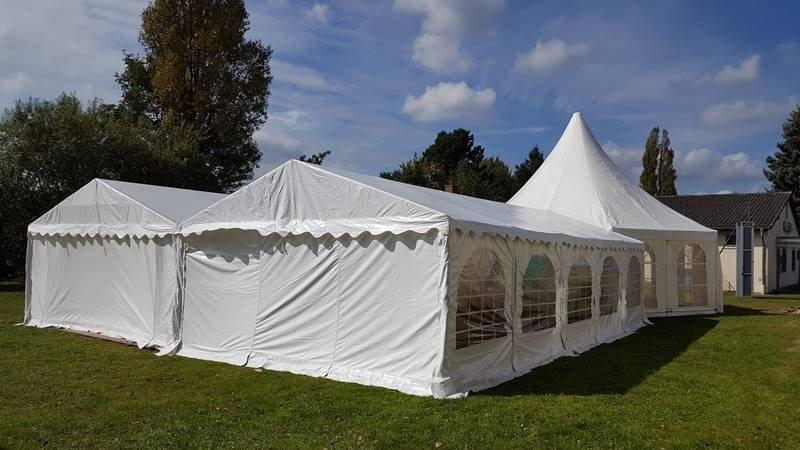 Zeltlandschaft Pagodenzelt Partyzelt 5x10m Waggum Hochzeit 5