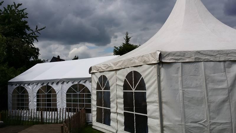 Hochzeit in Ilsede mieten Sie Pagodenzelt VIP 8m und Partyzelte bei Mutz Zeltverleih