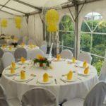 Hochzeit in Salzgitter Tisch und Stuhlhussen mieten bei Mutz Zeltverleih