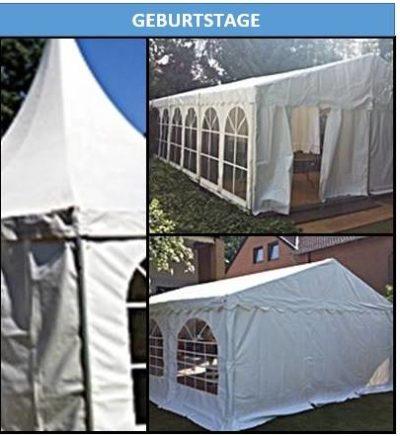 Geburtstage mieten Sie für Ihre Veranstaltung Zelte Mobiliar und Equipment so wie Gläser und Geschirr und besteck bei Mutz Zeltverleih