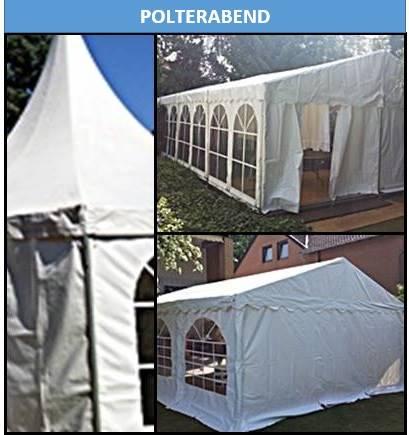 Polterabend mieten Sie für Ihre Veranstaltung Zelte und Mobiliar- Equipment bei Mutz Zeltverleih