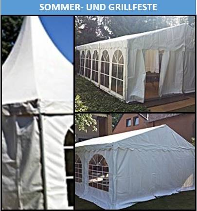 Sommer- und Grillfest mieten Sie für Ihre Veranstaltung Zelte Mobiliar und Equipment Gläser und Geschirr bei Mutz Zeltverleih