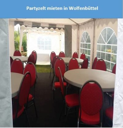 Partyzelt mieten in Wolfenbüttel