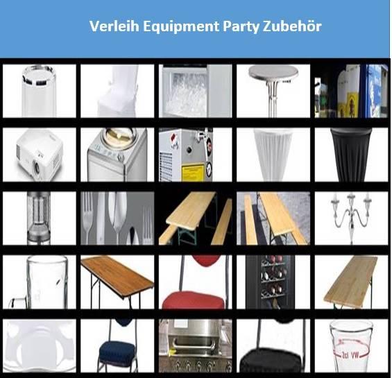 Verleih Equipment Party Zubehör mieten bei Mutz Zeltverleih.
