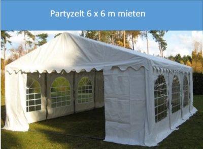 Partyzelt 6x6m Mieten