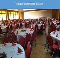 Tische und Stühle Mieten